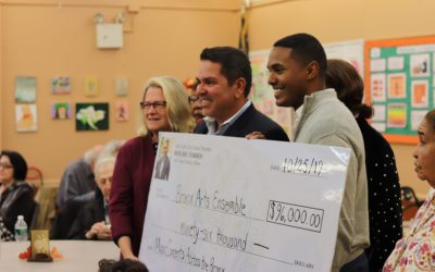 BAE Receives Check for Senior Concerts from Councilmember Ritchie Torres