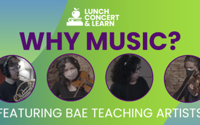 "BAE Introduces ""Lunch Concert & Learn,"" A Virtual Education Series Featuring Bronx Teaching Artists"