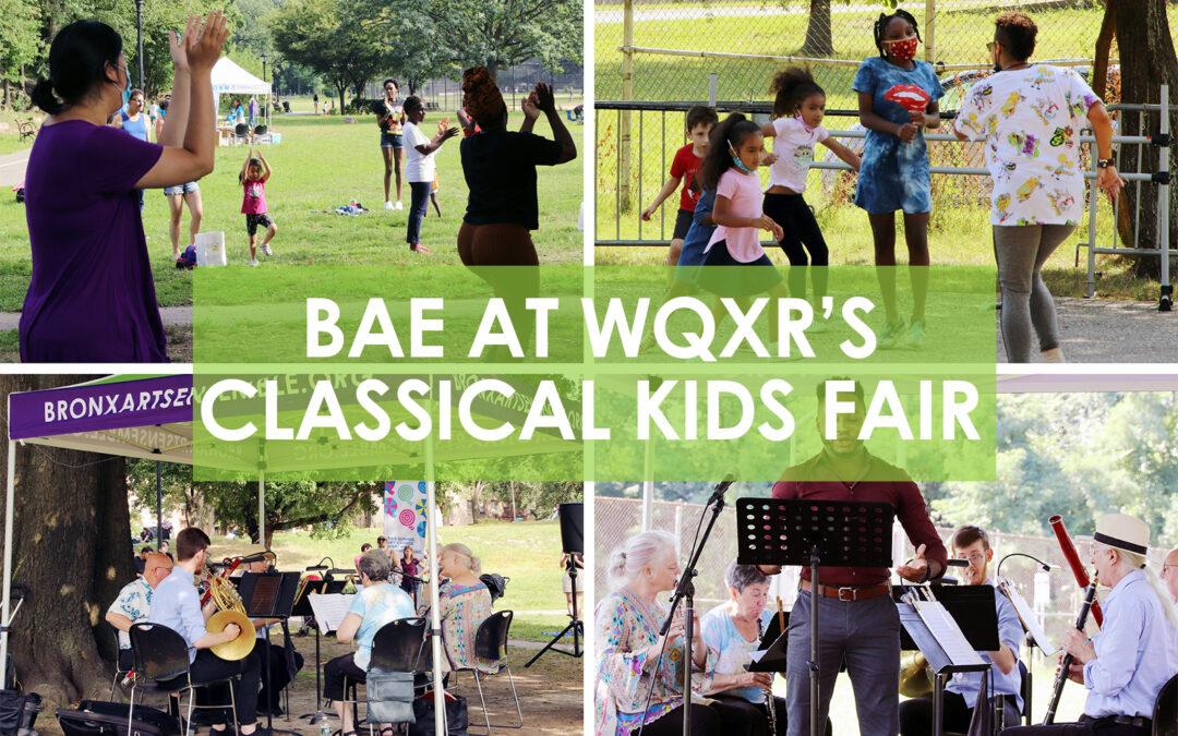 BAE at WQXR's Classical Kids Fair